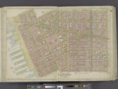 Manhattan, Double Page Plate No. 4 [Map bounded by Spring St., Broome St., Centre St., Pearl St., Thomas St., Jay St., Hudson River]