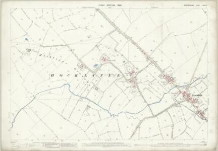 Bedfordshire XXVIII.8 (includes: Battlesden; Chalgrave; Eggington; Hockliffe) - 25 Inch Map