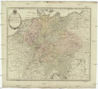 Neueste Generalkarte von Deutschland nach den zehn Kreisen und ihren Unterabtheilungen