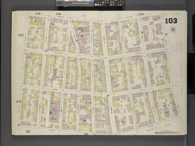 Brooklyn V. 4, Double Page Plate No.103 [Map bounded by Driggs St., S. 3rd St., Wythe Ave., N. 5th St.]