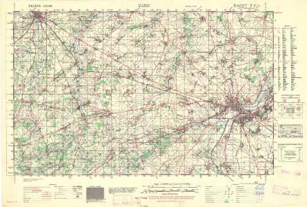 France 1:50,000 , Series GSGS 4250, Caen