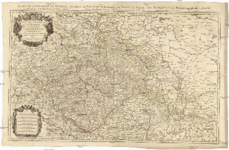 Estats de la couronne de Boheme qui comprennent le royaume de Boheme le duché de Silesie et les marquisats de Moravie et de Lusace