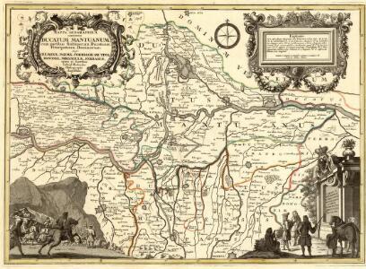 Mappa Geographica continens Ducatum Mantuanum