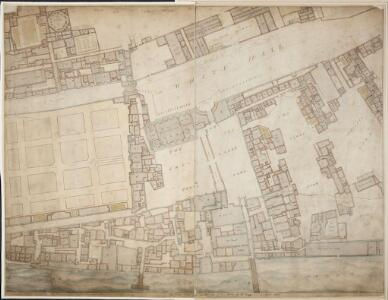 A drawn Plan of the Palace at Whitehall, taken about 1680