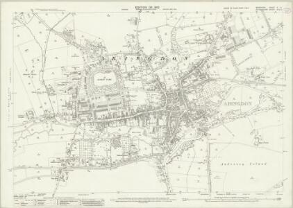 Berkshire X.6 (includes: Abingdon; Abingdon St Helen Without; Culham; Radley) - 25 Inch Map