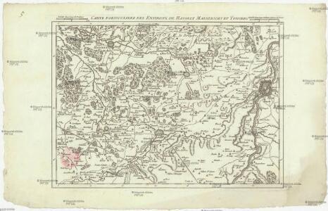 Carte particuliere des environs de Hasselt Maestricht et Tongres