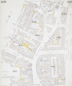 Insurance Plan of London East South-East District Vol. H: sheet 23