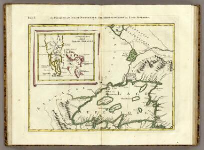 Il Paese de' Selvaggi Outauacesi, e Kilistinesi Intorno al Lago Superiore.
