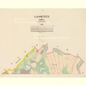 Lassenitz - c3807-1-001 - Kaiserpflichtexemplar der Landkarten des stabilen Katasters