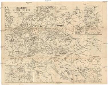 Eisenbahnkarte von Mittel Europa