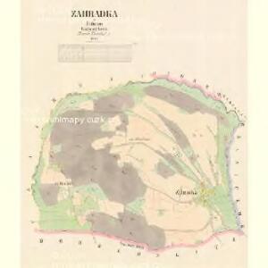 Zahradka - c9071-1-001 - Kaiserpflichtexemplar der Landkarten des stabilen Katasters