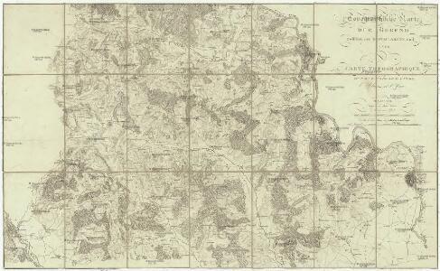 Topographische Karte der Gegend zwischen der Donau, Abens, und Iser