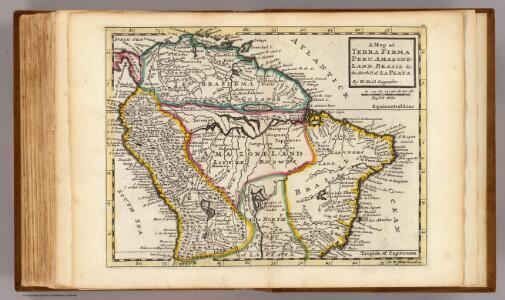 Map of Terra Firma, Peru, Amazone-Land, Brasil &c.