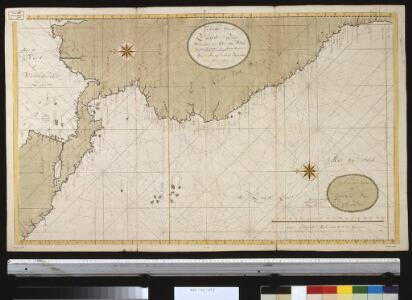 Een gedeelte van de Zuijd-Zee vertoonde de kust van Peru en een gedeelte van Nova Hispania van Arica tot G. de Papagallio na de France afteekening