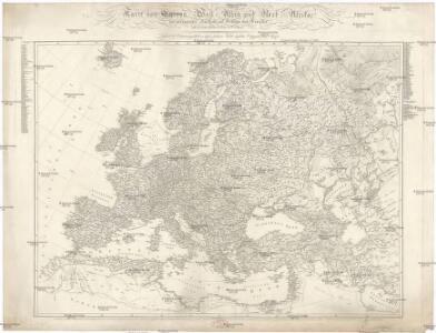 Karte von Europa, West-Asien und Nord-Afrika