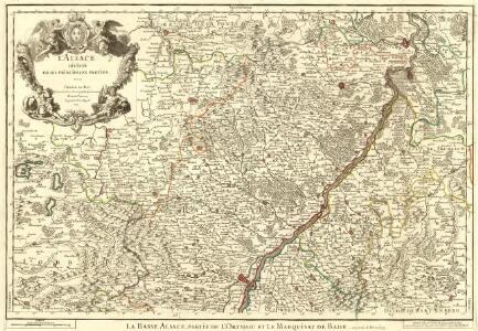 L'Alsace Divisée En Ses Principales Parties.