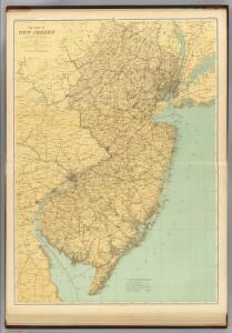 N.J. state map.