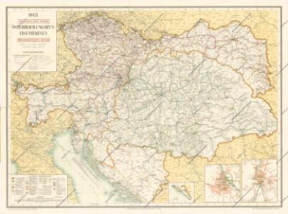 Eisenbahn - Karte von Österreich-Ungarn