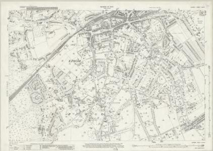 Surrey XIX.5 (includes: Epsom) - 25 Inch Map