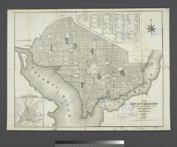 Map of the city of Washington : established as the permanent seat of the government of the United States of America / engraved and published by D. McClelland.