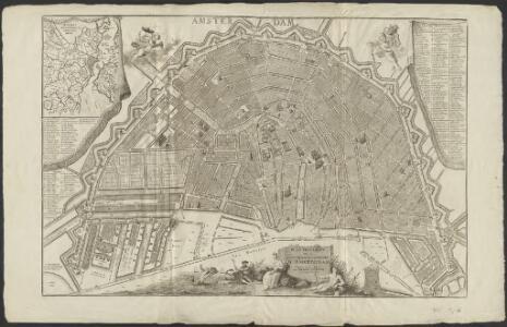 Plan très exact de la fameuse ville marchande d'Amsterdam