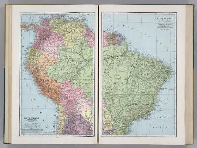 South America (Northwestern Part).  South America (Eastern Part).