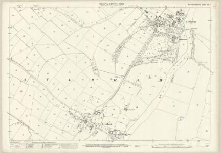 Nottinghamshire XXX.14 (includes: Averham; Kelham; Staythorpe) - 25 Inch Map