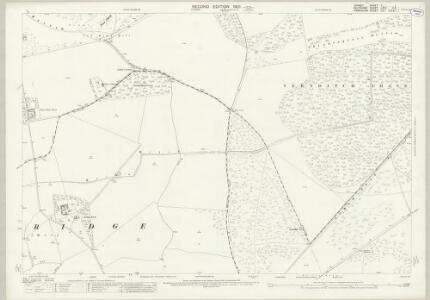 Dorset X.1 (includes: Bower Chalke; Broad Chalke; Martin; Pentridge) - 25 Inch Map