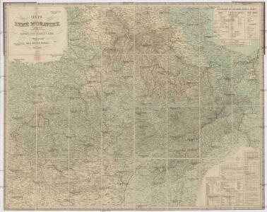 Mapa země moravské s částmi pohraničnými [sic] Slezska, Čech, Rakous i Uher