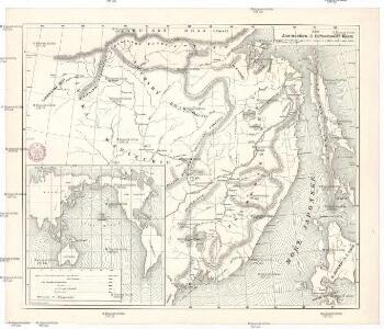Karta Amurského a Přímorského kraje