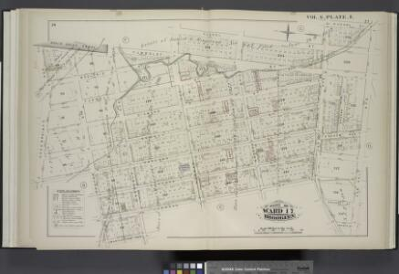 Vol. 6. Plate, E. [Map bound by Whale Creek Canal, Humboldt St., Norman Ave., Russell St., Van Cott Ave., N.Henry St., Van Pelt Ave., Lorimer St., Leonard St., Meserole Ave., Manhattan Ave., Calyer St., Oakland St., Green Point Ave.; Including Moultrie S