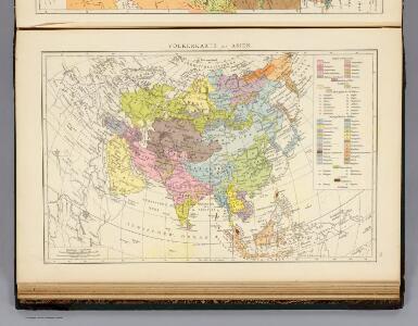 Volkerkarte von Asien.