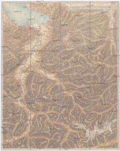 J.S. Gerster's Handkarte von Vorarlberg und angrenzenden Gebieten