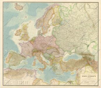 Neubertova podrobná politická mapa Evropy