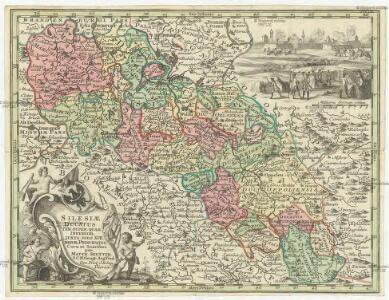 Silesiae Ducatus tam super. quam inferior, juxta suos 17 minores principatus