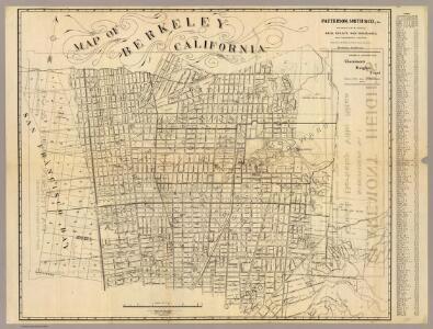 Map of Berkeley, California.