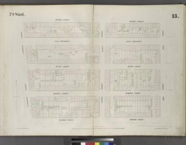 [Plate 13: Map bounded by Division Street, Pike Street, Monroe Street, Catherine Street.]