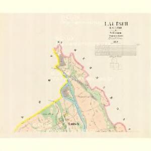 Lautsch (Lauczky) - m1619-1-001 - Kaiserpflichtexemplar der Landkarten des stabilen Katasters