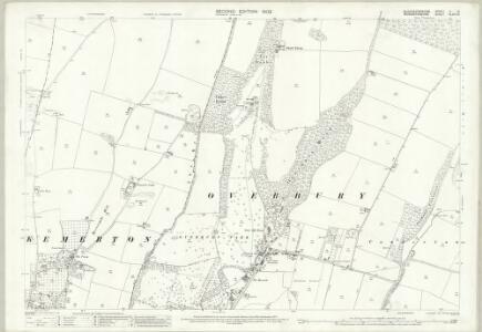Gloucestershire V.16 (includes: Bredon; Conderton; Kemerton; Overbury) - 25 Inch Map