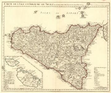 Carte de l'Isle et Royaume de Sicile