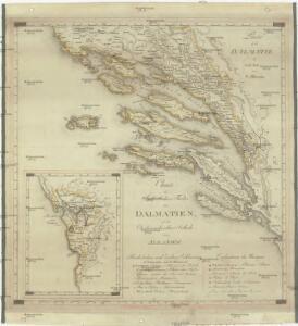 Charte des sudöstlichen Theiles von Dalmatien mit dem Oesterreichischen Antheile von Albanien
