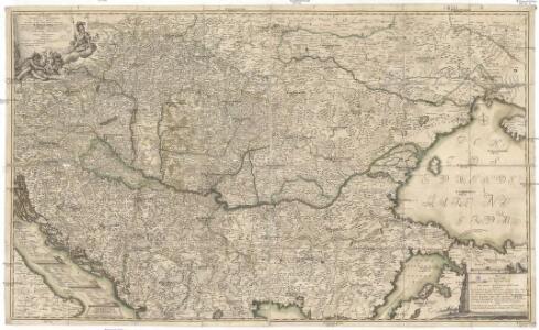 Neu und accurat verfaste general Post Land-Karte des sehr grosen Welt berühmten Konig-Reichs Hungarn