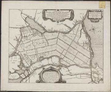 Caerte van de Heer-Huygen-Waert, met de omliggende dorpen en huysen, soo die tegenwoordich bedyckt en afgegraven is, ... op den 20. Junijus anno 1631