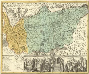 Vallesia Superior, ac Inferior Wallis le Valais, geographice repraesentata