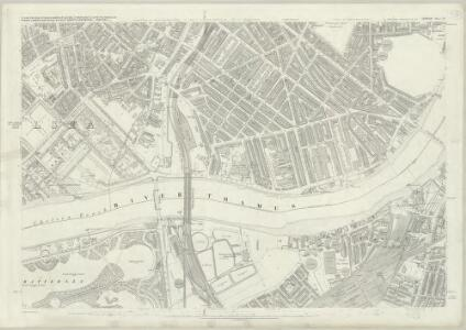 London (First Editions c1850s) LIV (includes: Battersea; Chelsea; City Of Westminster) - 25 Inch Map