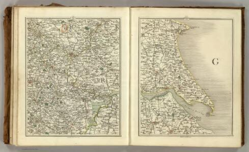 Sheets 51-52.  (Cary's England, Wales, and Scotland).