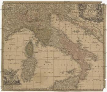 Nova et exactissima totius Italiae Sardiniae et Corsicae delineatio
