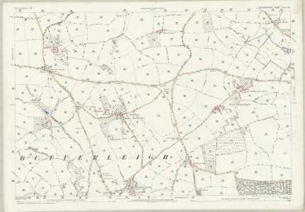 Devon XLV.16 (includes: Butterleigh; Cullompton; Halberton; Silverton) - 25 Inch Map