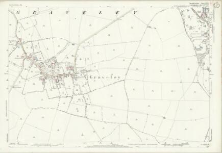 Huntingdonshire XXVI.2 (includes: Graveley; Papworth St Agnes; Toseland; Yelling) - 25 Inch Map