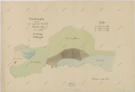 Plán borkoviště Vimberky u rybníka Svět 1